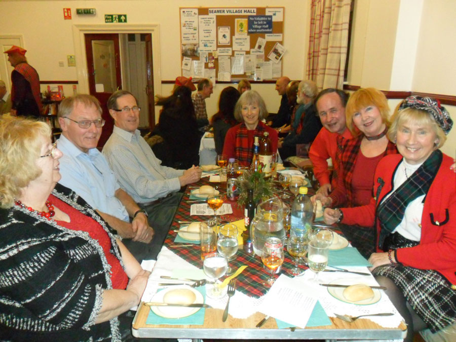 Burn's Night celebration at Seamer village hall 2015