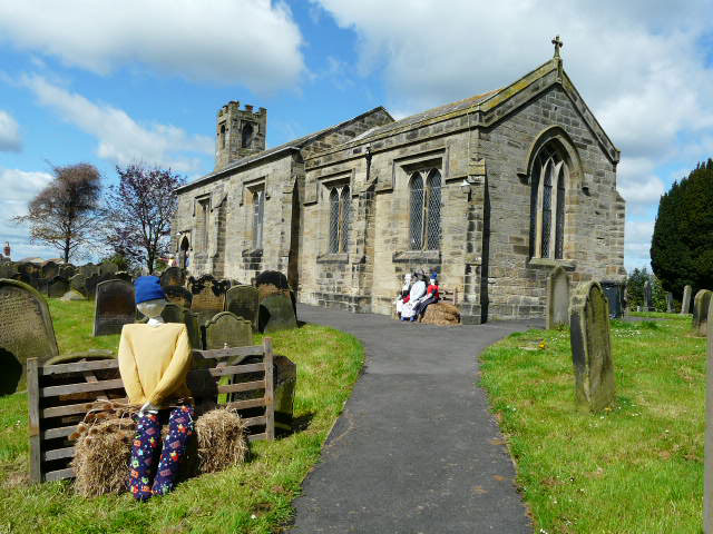 St. Martins Church Seamer (with scarecrows)