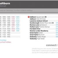 Local bus service from Stokesley to Saltburn